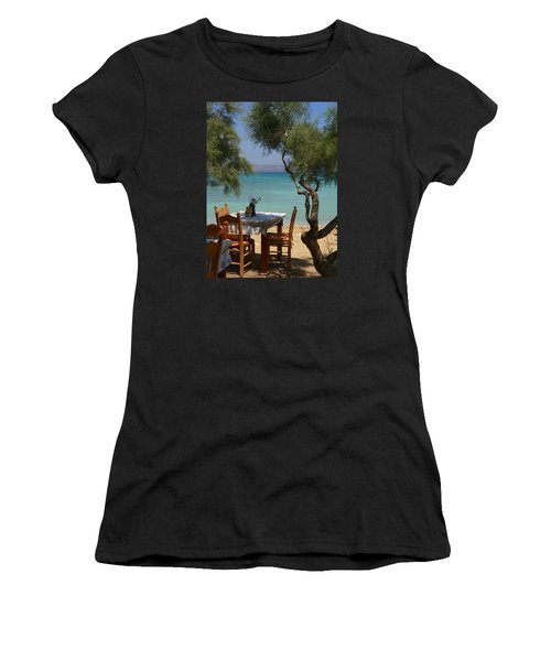 A Table Underneath The Welcoming Shade Women's T-Shirt (Athletic Fit)