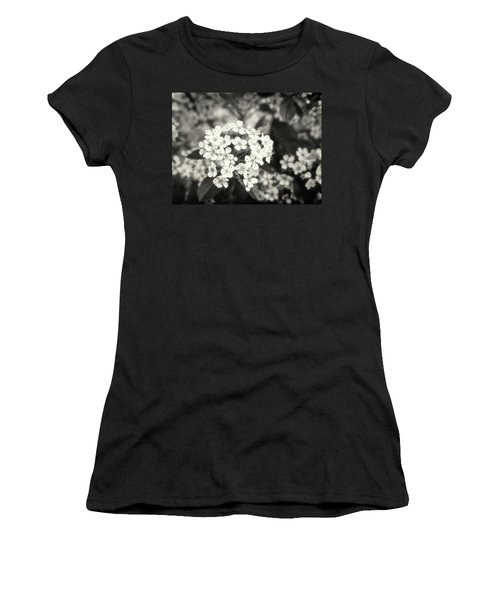 A Thousand Blossoms In Sepia 3x4 Flipped Women's T-Shirt