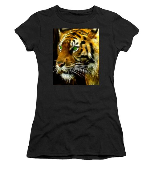 A Tiger's Stare Women's T-Shirt (Athletic Fit)