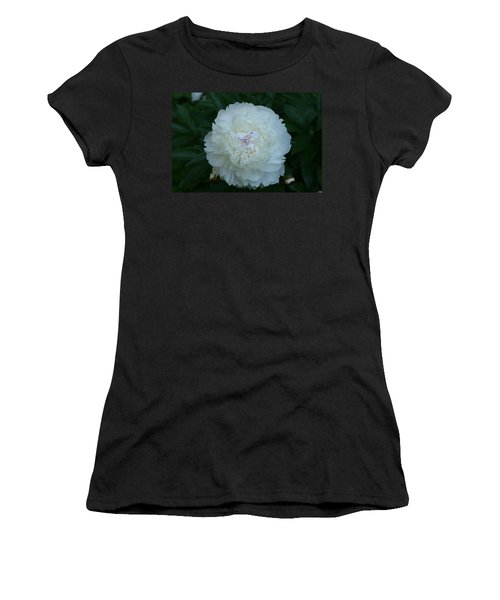 Women's T-Shirt (Junior Cut) featuring the digital art A Touch Of Pink by Barbara S Nickerson