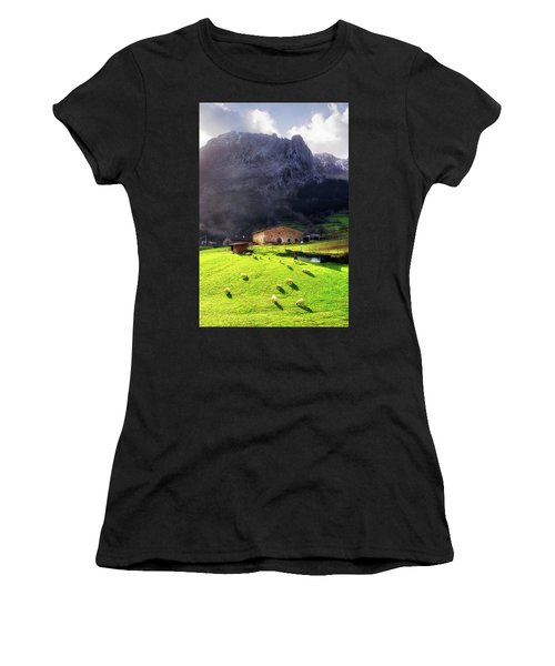 A Typical Basque Country Farmhouse With Sheep Women's T-Shirt