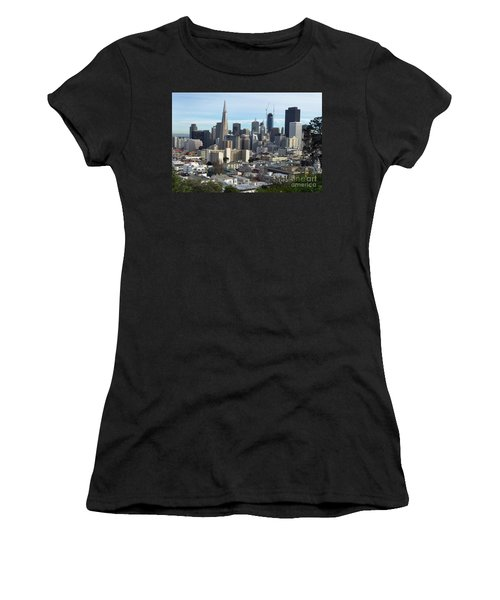 A View Of Downtown From Nob Hill Women's T-Shirt