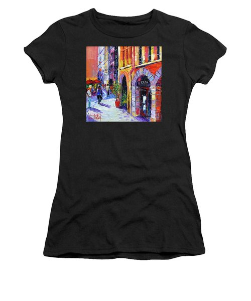 A Walk In The Lyon Old Town Women's T-Shirt (Athletic Fit)