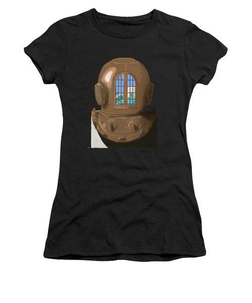 A Wave Inside The Helmet Women's T-Shirt (Athletic Fit)