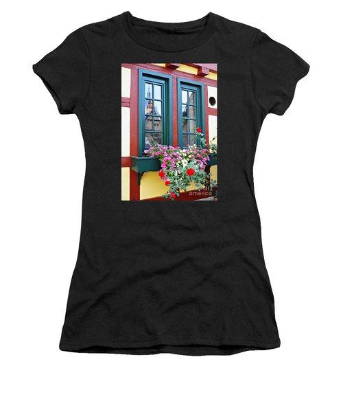 A Window In Eltville  2 Women's T-Shirt (Athletic Fit)