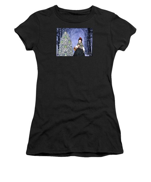 A Winter Walk Women's T-Shirt (Athletic Fit)