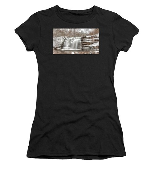 A Winter Waterfall - Color Women's T-Shirt