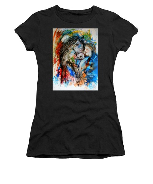 A Woman And Her Horse Women's T-Shirt