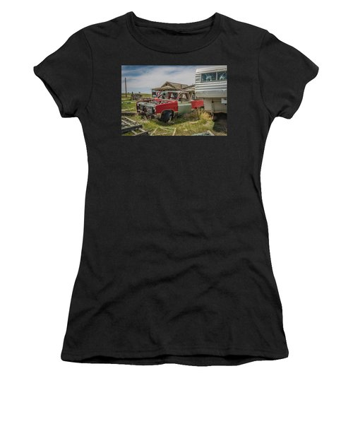 Abandoned Car And Trailer In The Ghost Town Of Cisco, Utah Women's T-Shirt (Athletic Fit)