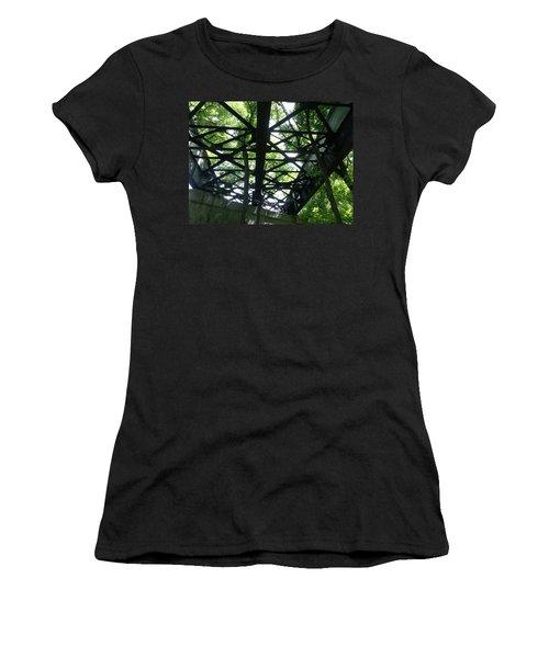 Abandoned Railroad Bridge Women's T-Shirt (Athletic Fit)