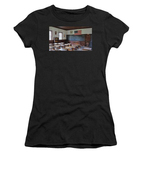 Women's T-Shirt (Junior Cut) featuring the digital art Abc's Of Learning by Sharon Batdorf