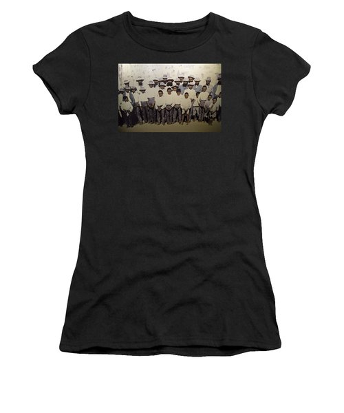 Women's T-Shirt (Athletic Fit) featuring the photograph Aboriginal Life 1901 To 1914 by Miroslava Jurcik