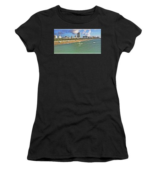 Above South Beach  Women's T-Shirt (Athletic Fit)