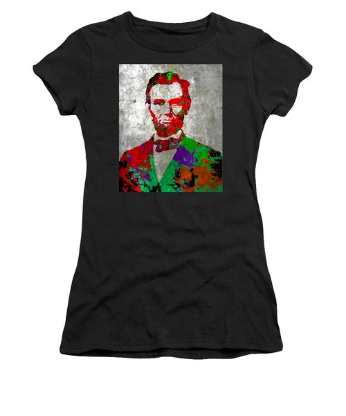 Abraham Lincoln On Silver - Amazing President Women's T-Shirt