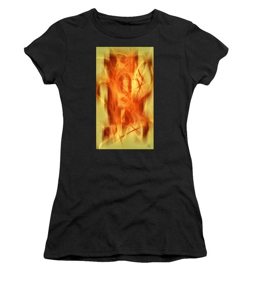 Women's T-Shirt featuring the mixed media Abstract 293  by Marian Palucci-Lonzetta