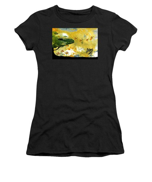 Abstract Acrylic Painting Spring Dance Women's T-Shirt (Athletic Fit)