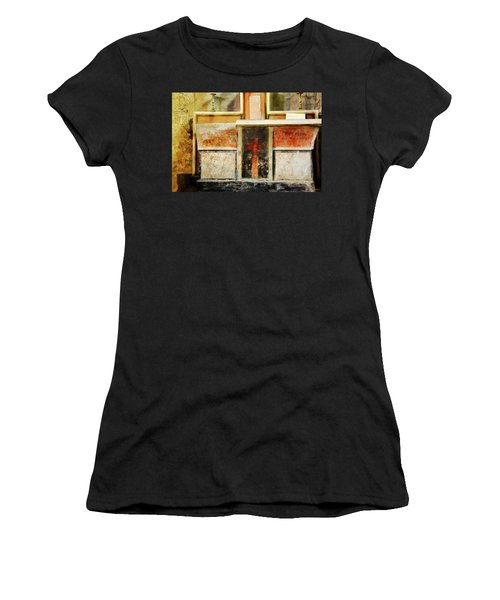 Women's T-Shirt (Athletic Fit) featuring the photograph Abstract Altar by Rasma Bertz