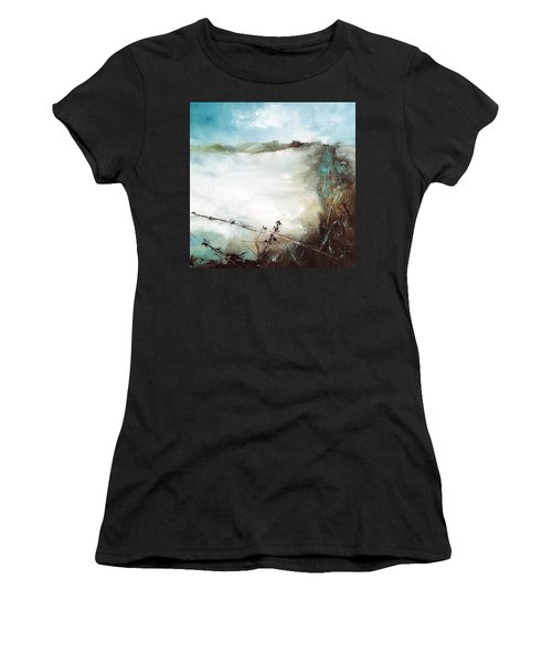 Abstract Barbwire Pasture Landscape Women's T-Shirt (Athletic Fit)