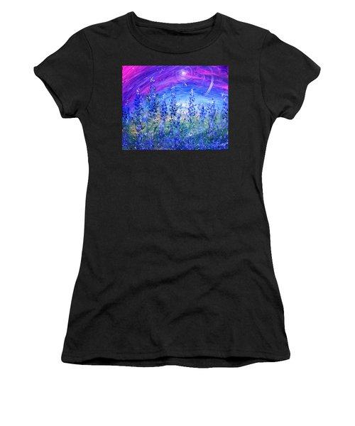 Abstract Bluebonnets Women's T-Shirt