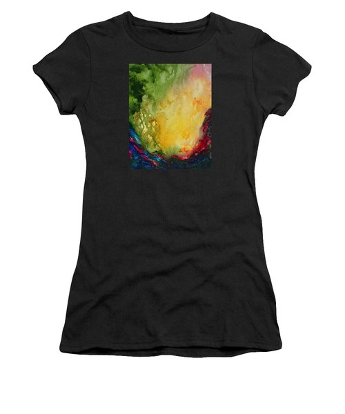 Abstract Color Splash Women's T-Shirt (Athletic Fit)