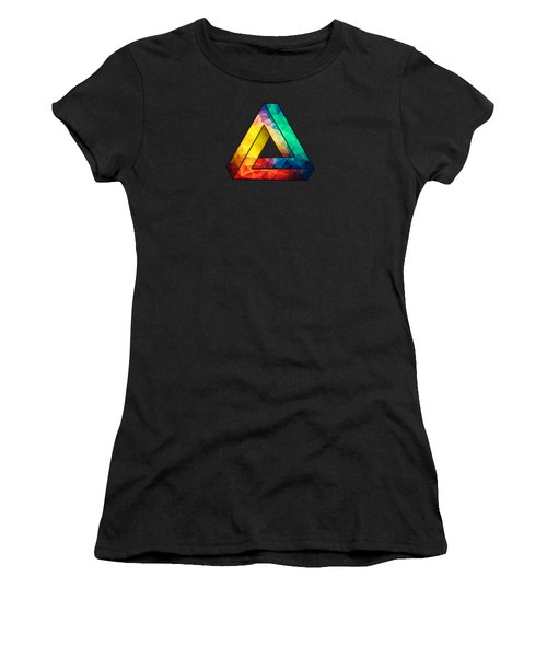 Abstract Color Wave Flash Women's T-Shirt