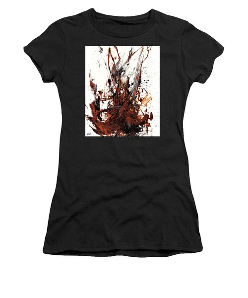 Abstract Expressionism Painting 50.072110 Women's T-Shirt (Athletic Fit)
