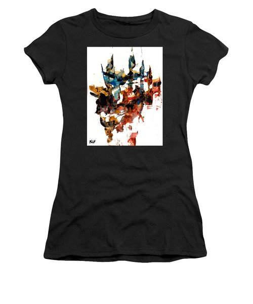 Abstract Expressionism Painting Series 750.102910 Women's T-Shirt (Junior Cut) by Kris Haas