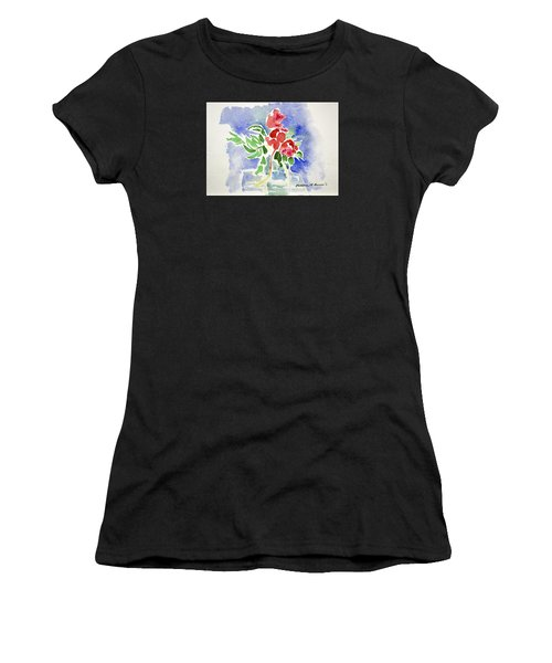 Abstract Flowers Women's T-Shirt
