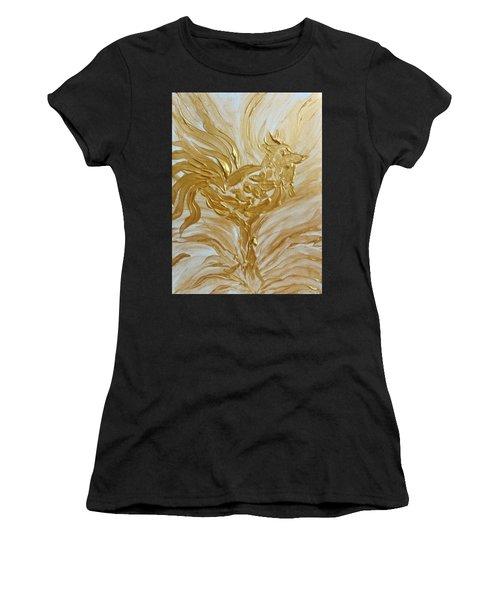 Abstract Golden Rooster Women's T-Shirt