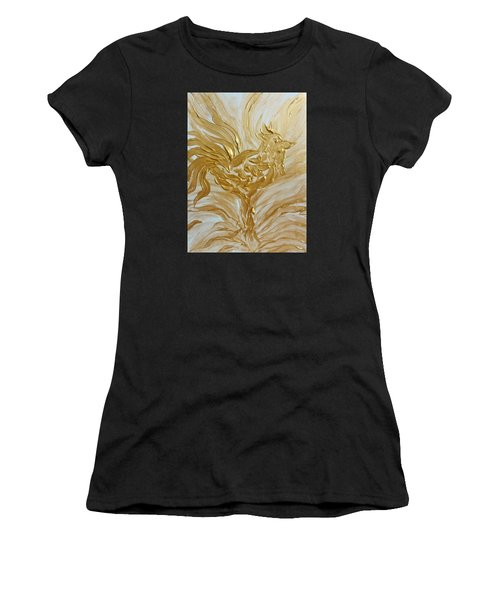Abstract Golden Rooster Women's T-Shirt
