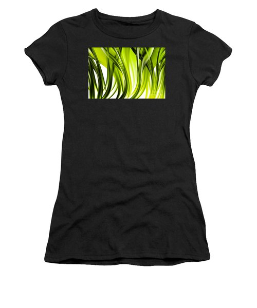 Abstract Green Grass Look Women's T-Shirt (Athletic Fit)
