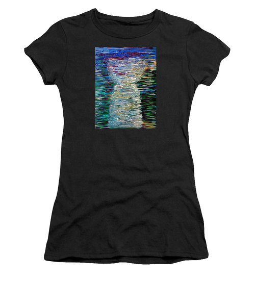 Abstract Latte Stone Women's T-Shirt (Athletic Fit)