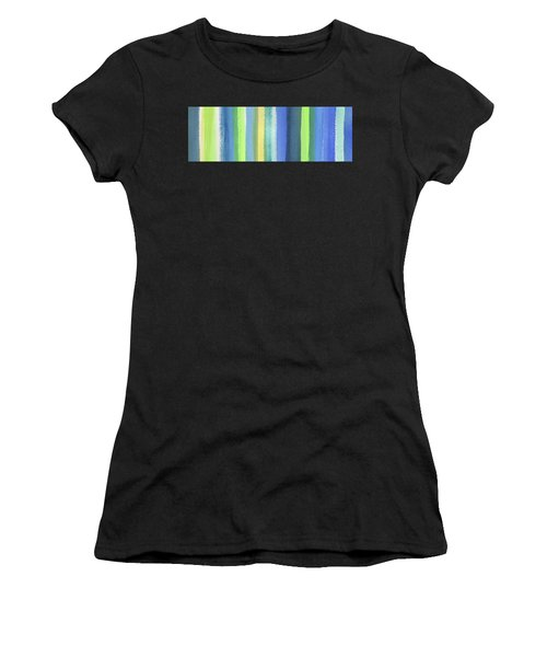 Abstract Lines In Blue Yellow Green I Women's T-Shirt