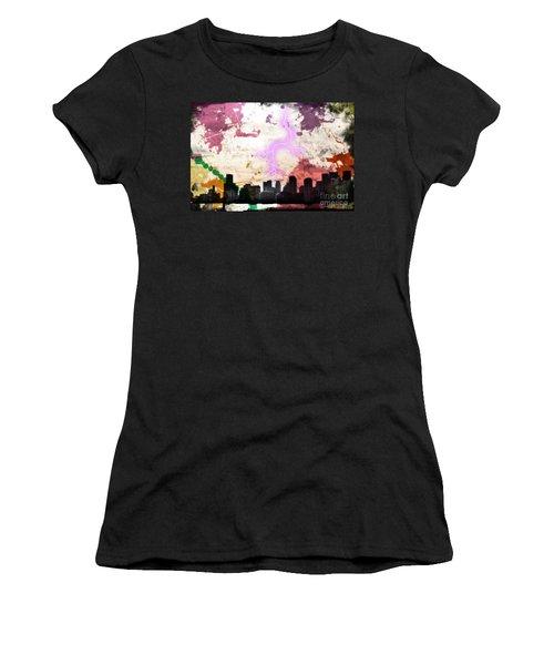 Lightning Strikes  Women's T-Shirt (Athletic Fit)