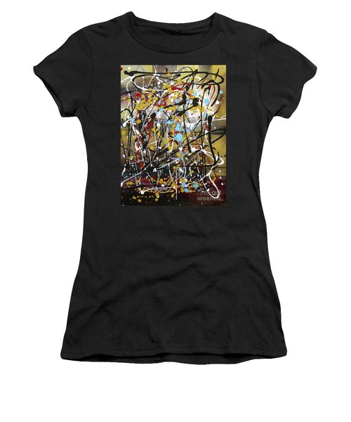 Abstract Original Art Contemporary Painting Energized I By Megan Duncanson Women's T-Shirt