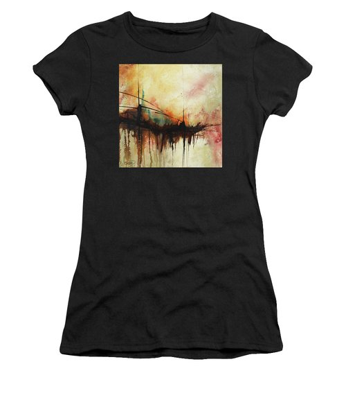 Abstract Painting Contemporary Art Women's T-Shirt (Athletic Fit)