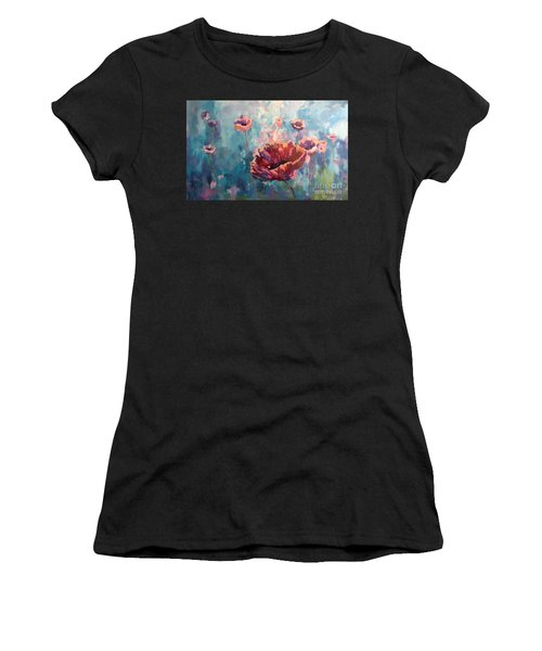 Abstract Poppy Women's T-Shirt (Athletic Fit)