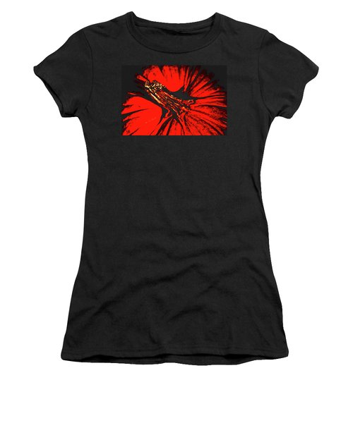 Abstract Pumpkin Stem Women's T-Shirt (Athletic Fit)