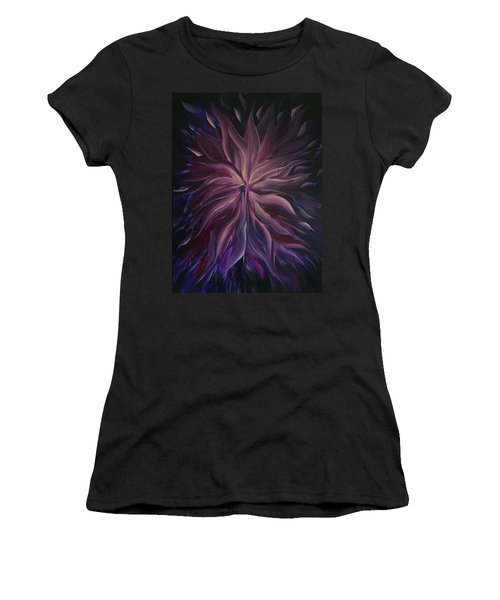 Abstract Purple Flower Women's T-Shirt