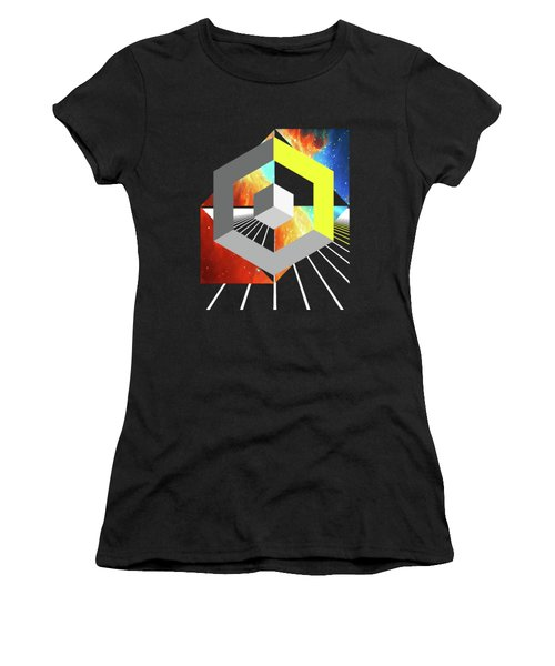 Abstract Space 4 Women's T-Shirt (Athletic Fit)