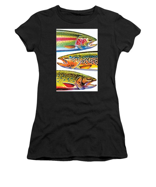 Abstract Trout Women's T-Shirt (Athletic Fit)