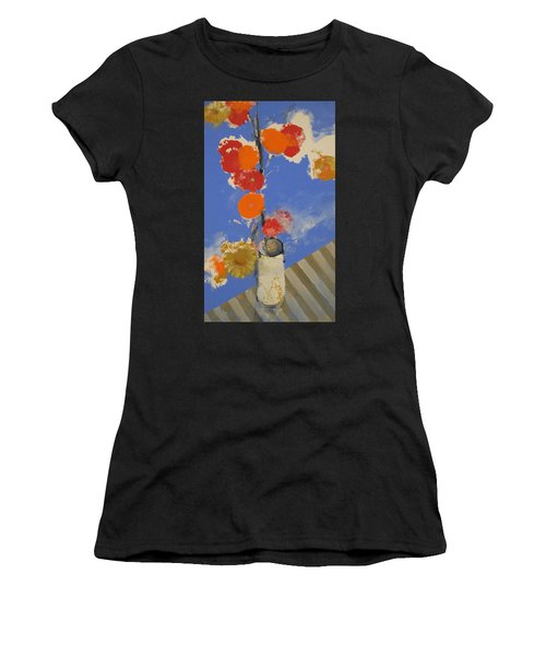 Abstracted Flowers In Ceramic Vase  Women's T-Shirt