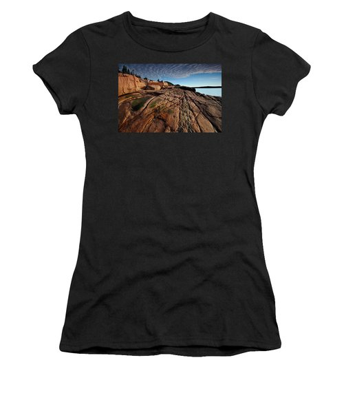 Acadia Rocks Women's T-Shirt (Athletic Fit)