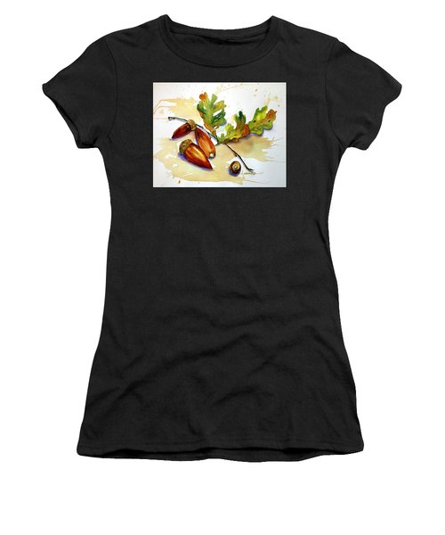 Acorns And Leaves Women's T-Shirt (Athletic Fit)