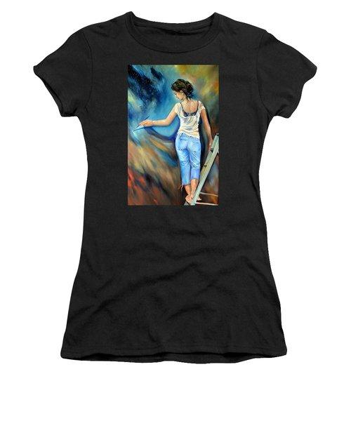 Across The Universe Women's T-Shirt (Athletic Fit)