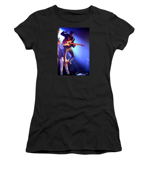 Women's T-Shirt featuring the photograph Adam Catches Some Air by John King