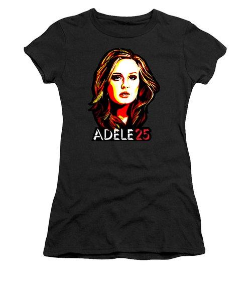 Adele 25-1 Women's T-Shirt (Junior Cut) by Tim Gilliland