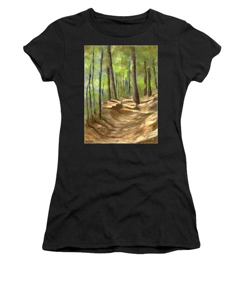 Adirondack Hiking Trails Women's T-Shirt (Athletic Fit)