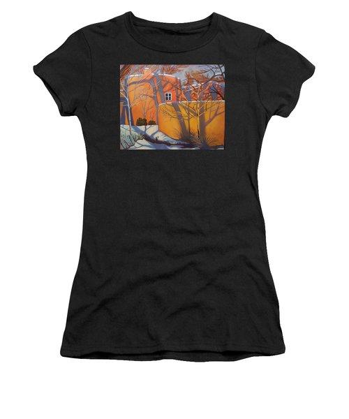 Adobe, Shadows And A Blue Window Women's T-Shirt
