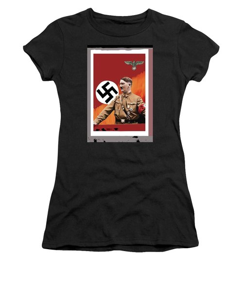 Adolf Hitler In Color With Nazi Symbols Unknown Date Additional Color Added 2016 Women's T-Shirt